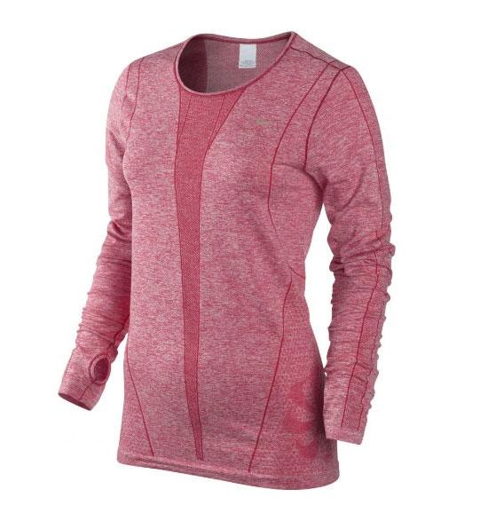 Womens Running Clothes : Nike Womens Dri-Fit Knit Long Sleeve Running